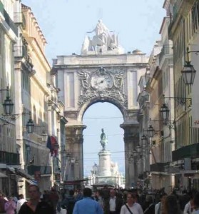 The main street of Lisbon