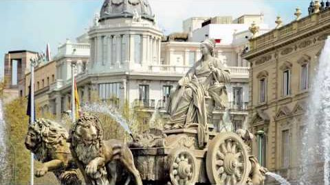 Fountain of Cibeles - Dividing line of the old city and the new. This is becoming an iconic fountain of Madrid.