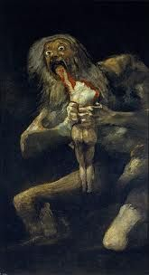 this is Saturn devouring his offspring