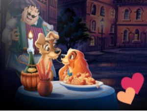 """(This Disney movie """"The lady and the Tramp"""" cartoon at its best. You have never lived if you miss it.)"""