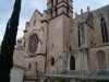 Front view of Montpellier Cathedral